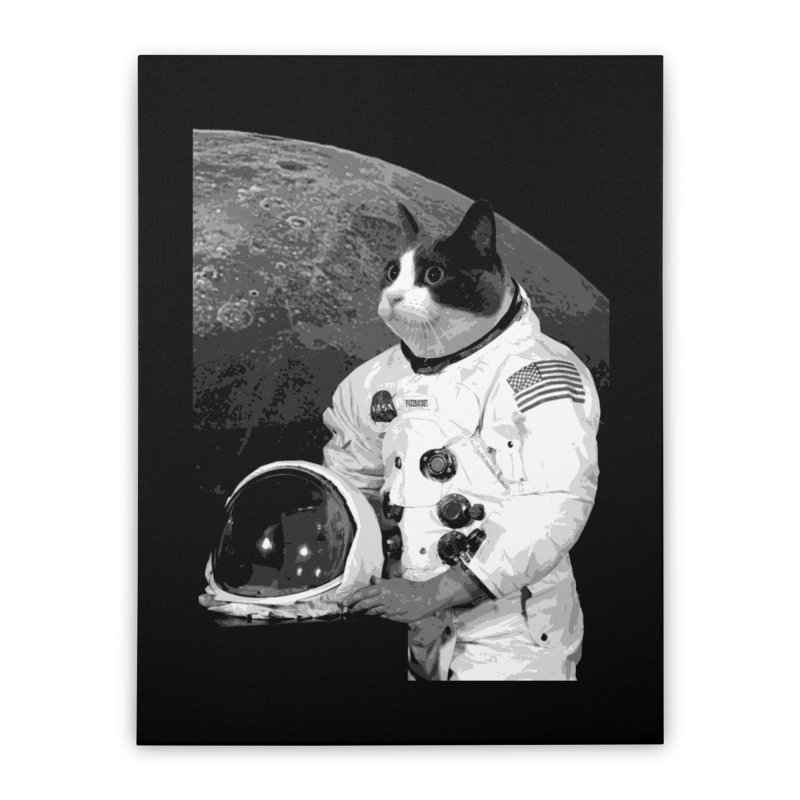 ASTROCAT Home Stretched Canvas by Art of Ryan Winchell