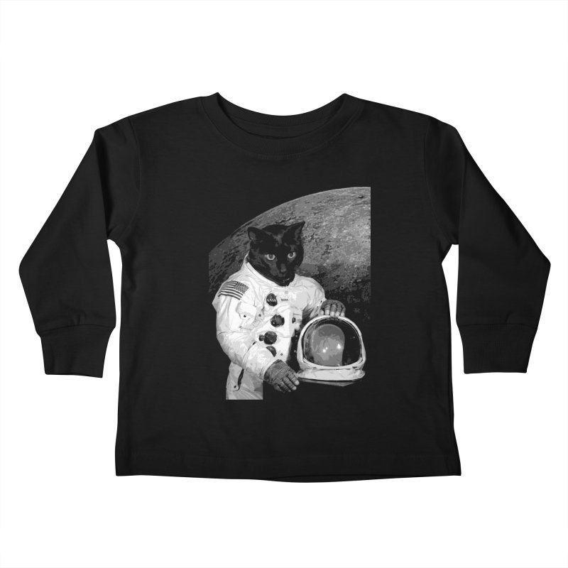 Astro Cat 2 Kids Toddler Longsleeve T-Shirt by Art of Ryan Winchell
