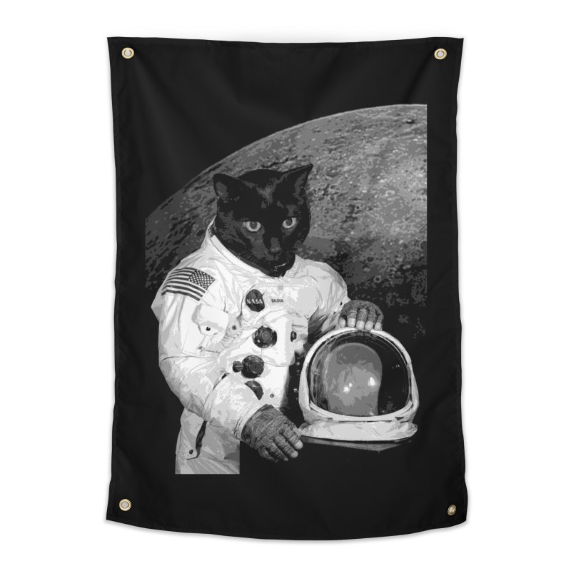 Astro Cat 2 Home Tapestry by Art of Ryan Winchell