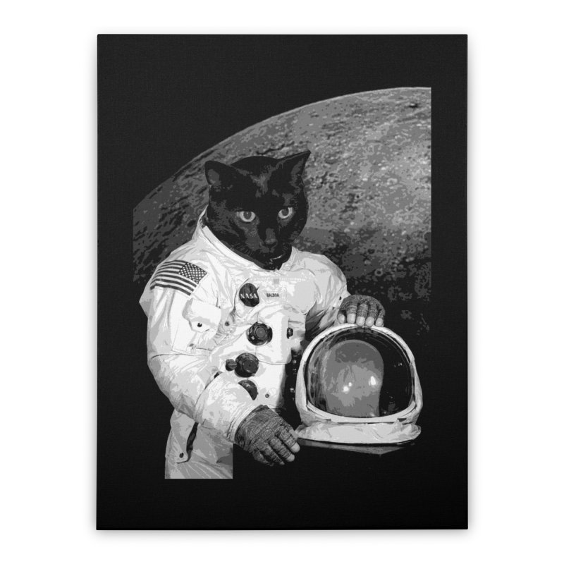 Astro Cat 2 Home Stretched Canvas by Art of Ryan Winchell