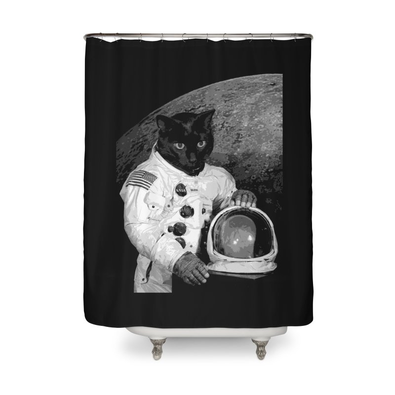 Astro Cat 2 Home Shower Curtain by Art of Ryan Winchell