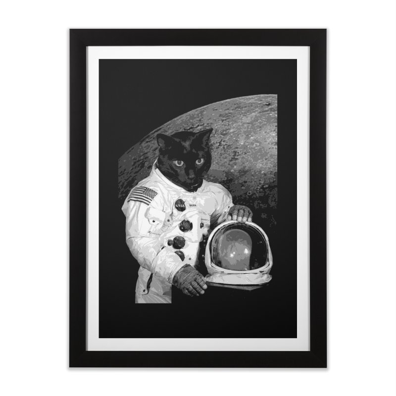 Astro Cat 2 Home Framed Fine Art Print by Art of Ryan Winchell