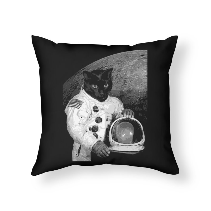Astro Cat 2 Home Throw Pillow by Art of Ryan Winchell