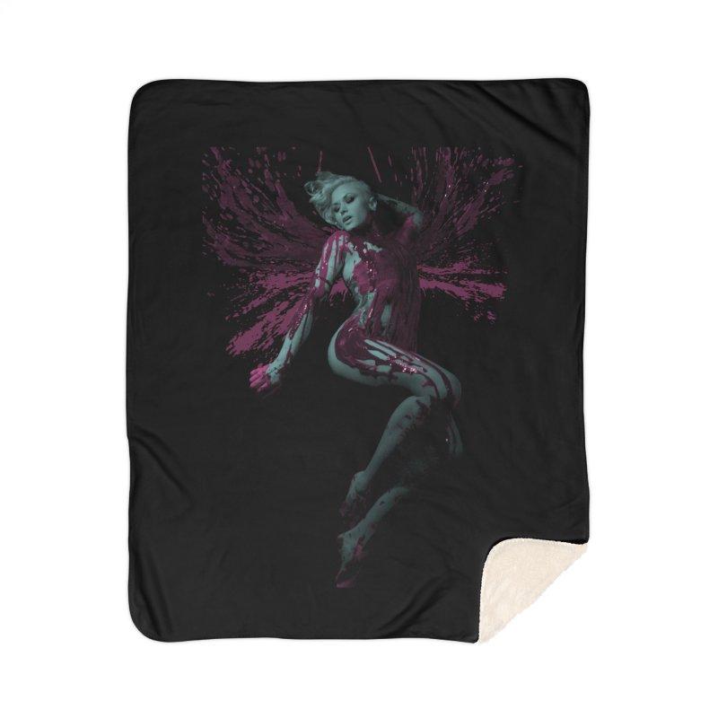 Splatter Angel Home Blanket by Art of Ryan Winchell