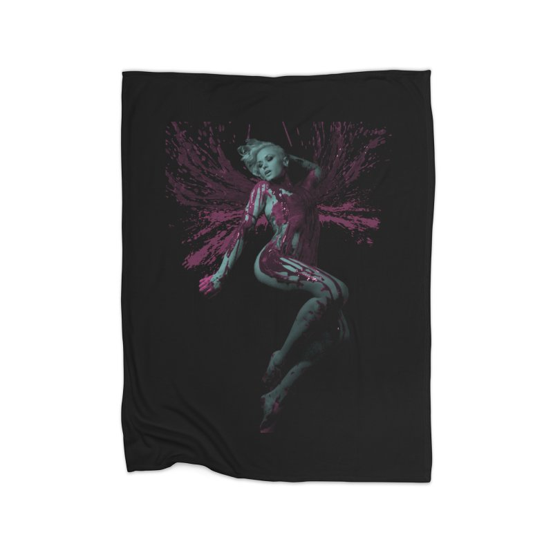Splatter Angel Home Blanket by Art of Ryan Winchell