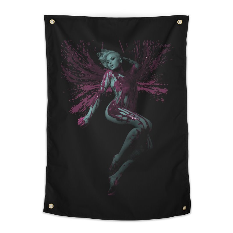 Splatter Angel Home Tapestry by Art of Ryan Winchell