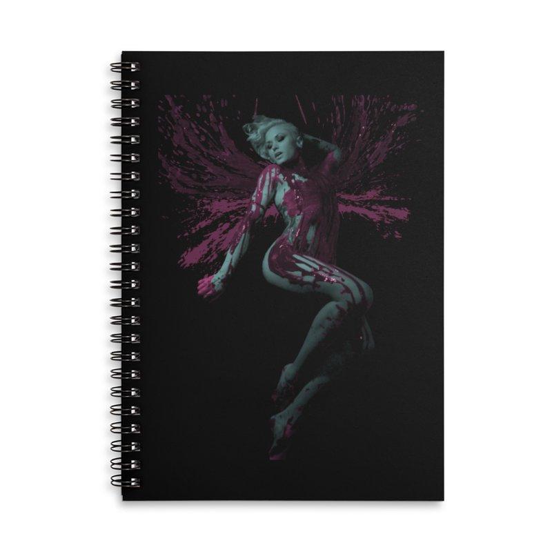 Splatter Angel Accessories Notebook by Art of Ryan Winchell