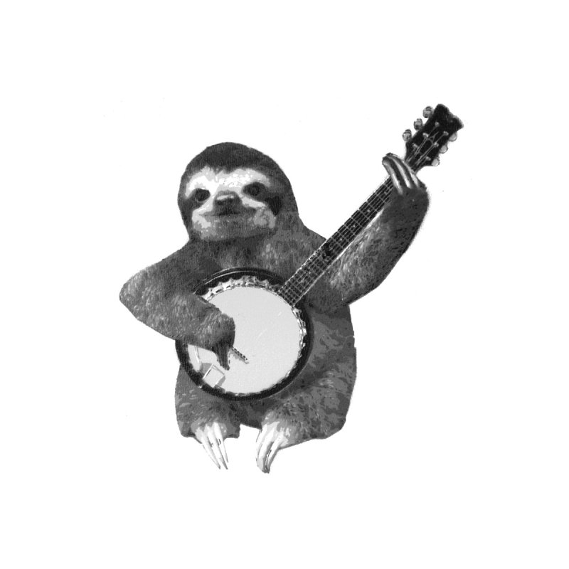 Banjo Sloth Home Stretched Canvas by Art of Ryan Winchell