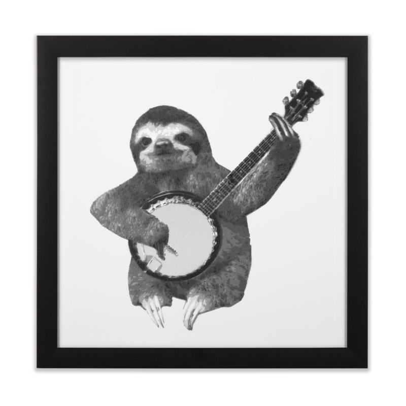 Banjo Sloth Home Framed Fine Art Print by Art of Ryan Winchell