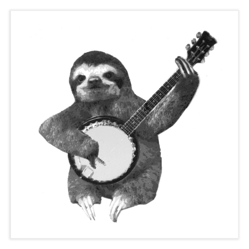 Banjo Sloth Home Fine Art Print by Art of Ryan Winchell