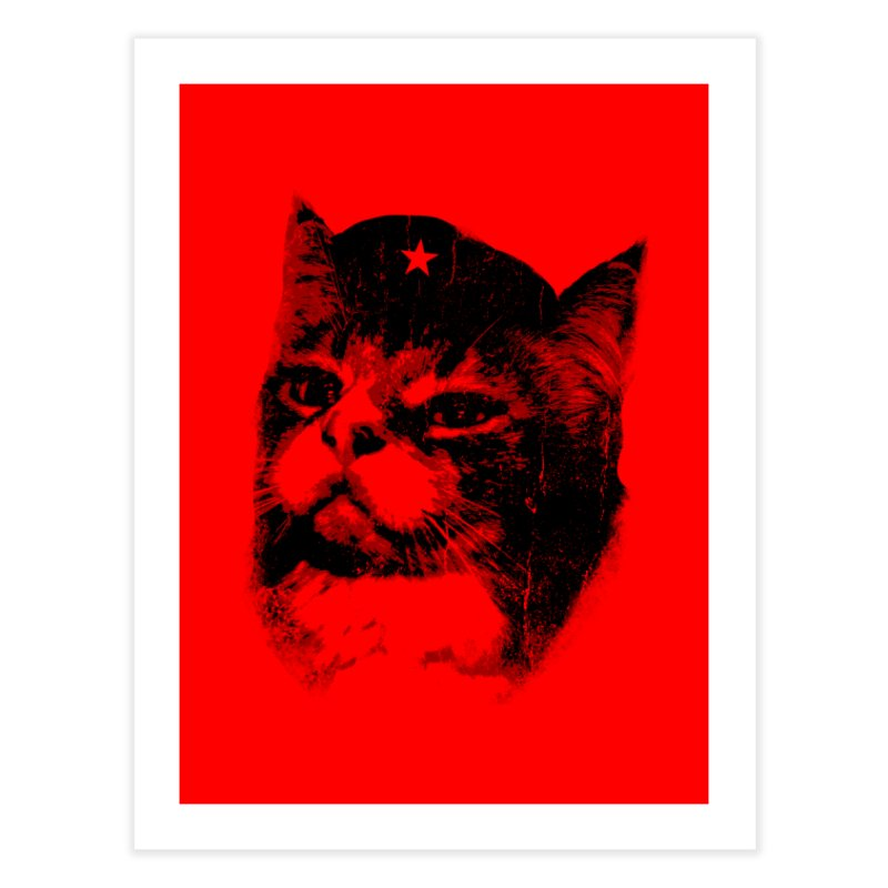 La Com-mew-nista Home Fine Art Print by Art of Ryan Winchell