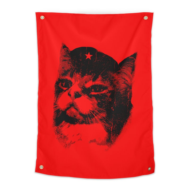 La Com-mew-nista Home Tapestry by Art of Ryan Winchell