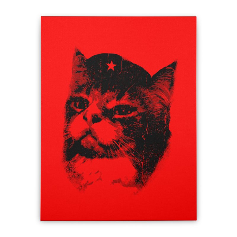 La Com-mew-nista Home Stretched Canvas by Art of Ryan Winchell
