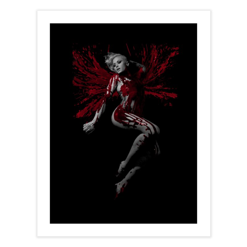 Splatter Angel Home Fine Art Print by Art of Ryan Winchell