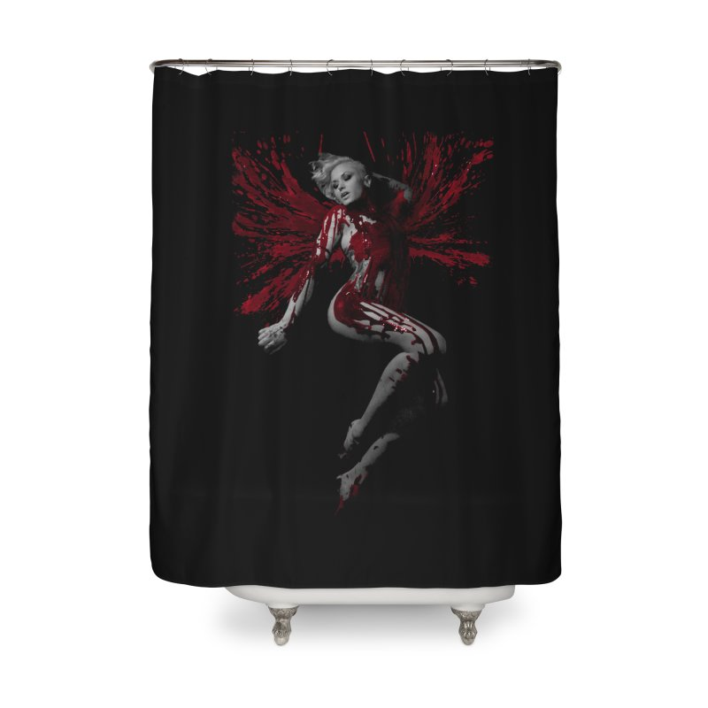 Splatter Angel Home Shower Curtain by Art of Ryan Winchell