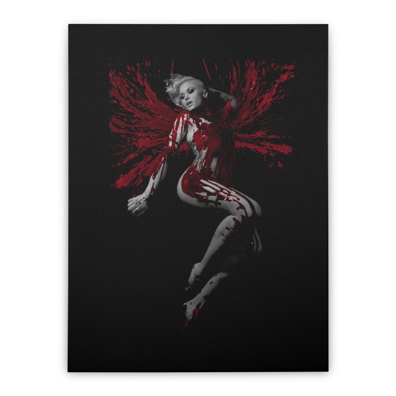 Splatter Angel Home Stretched Canvas by Art of Ryan Winchell