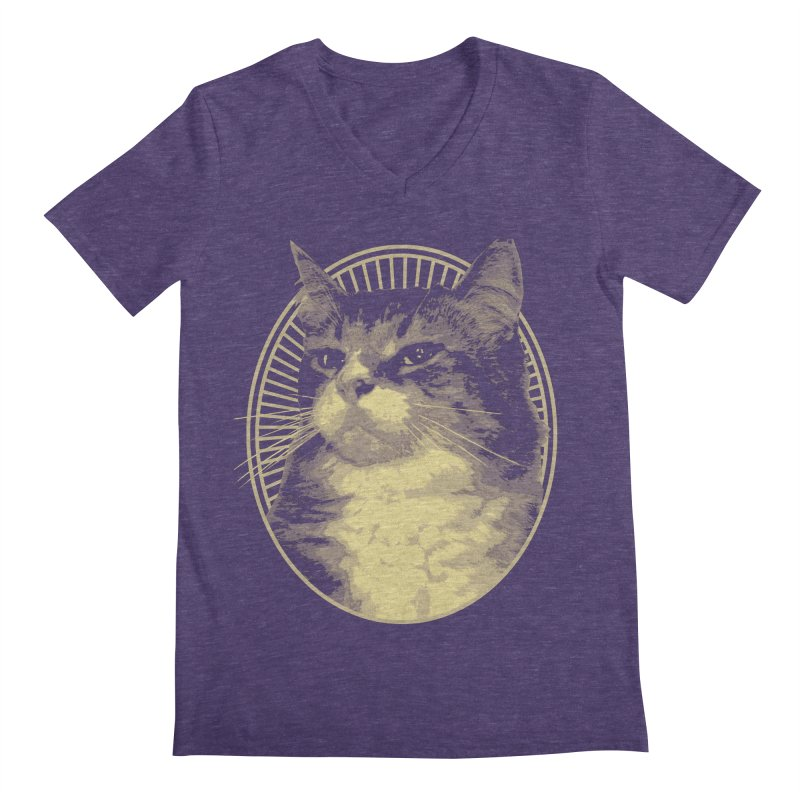 MEOW Men's V-Neck by Art of Ryan Winchell