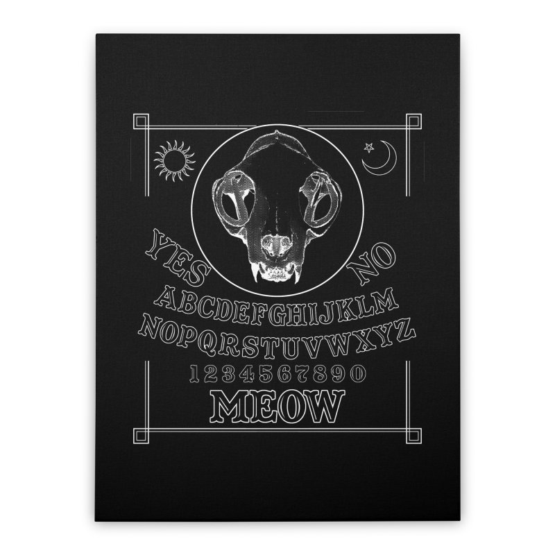Spooky Meowmers Home Stretched Canvas by Art of Ryan Winchell