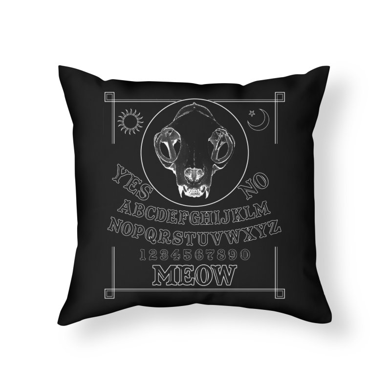 Spooky Meowmers Home Throw Pillow by Art of Ryan Winchell