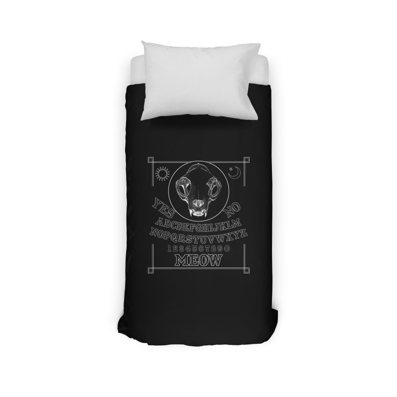Spooky Meowmers Home Duvet by Art of Ryan Winchell