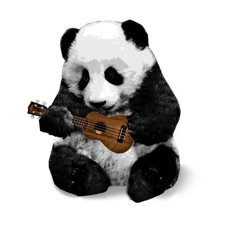 Ukulele Panda Home Mounted Aluminum Print by Art of Ryan Winchell