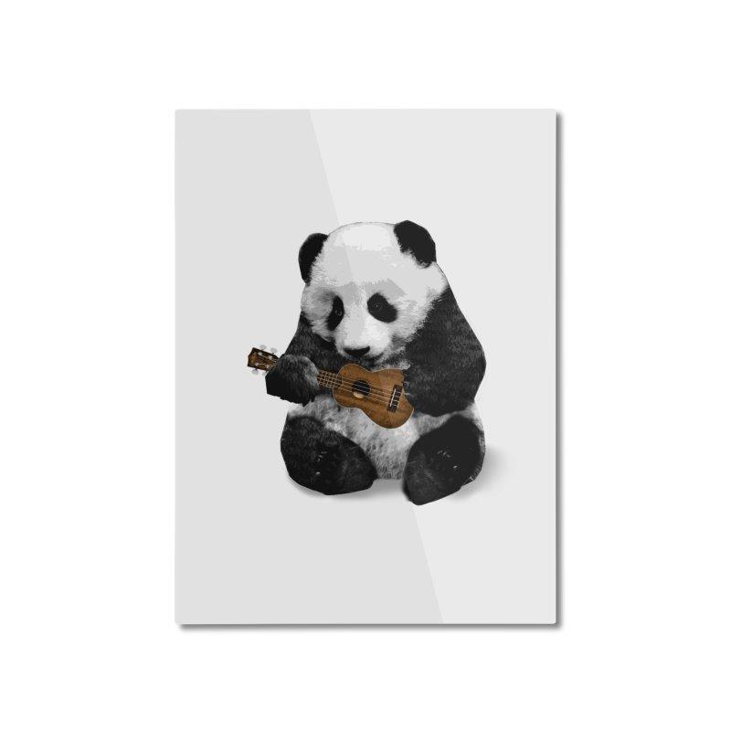Ukulele Panda Home Mounted Aluminum Print by Art of Ryan Winchell