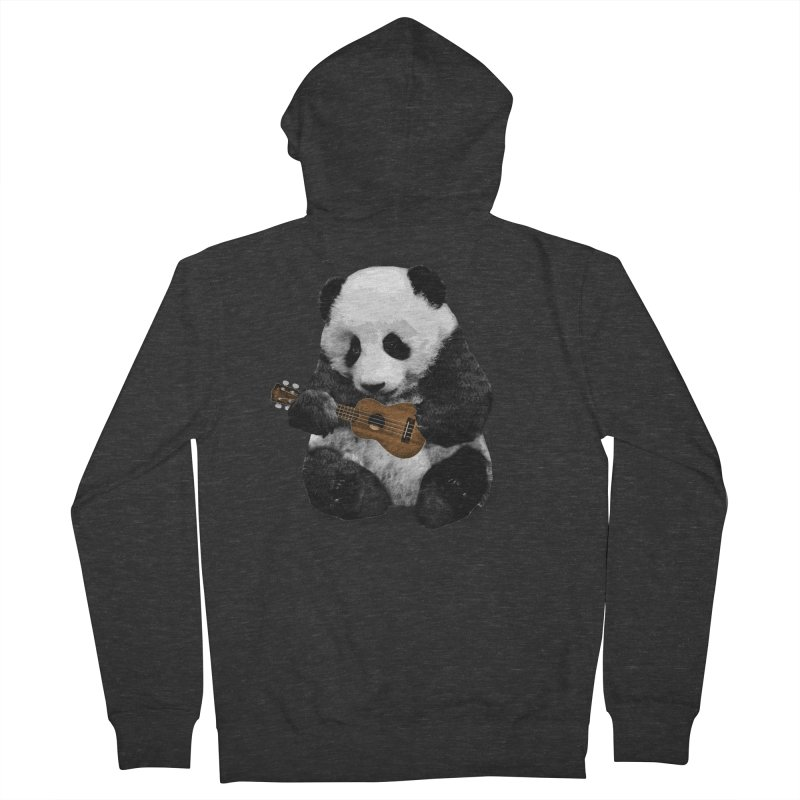 Ukulele Panda Men's Zip-Up Hoody by Art of Ryan Winchell