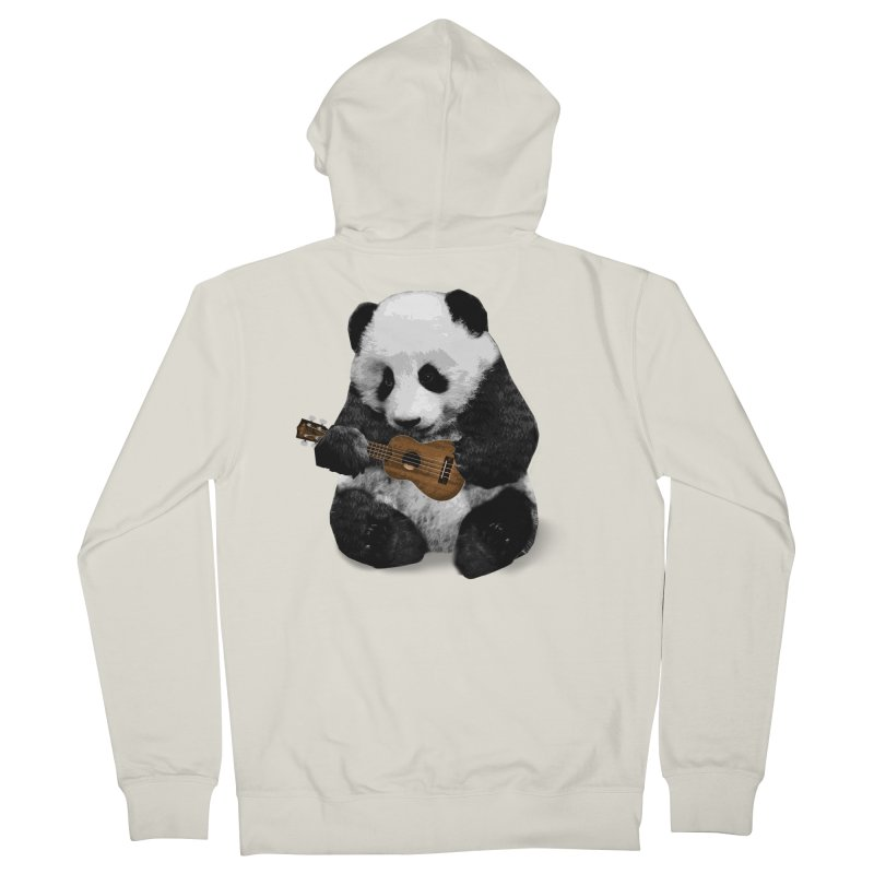 Ukulele Panda Men's Zip-Up Hoody by Art of Ryan Winchell