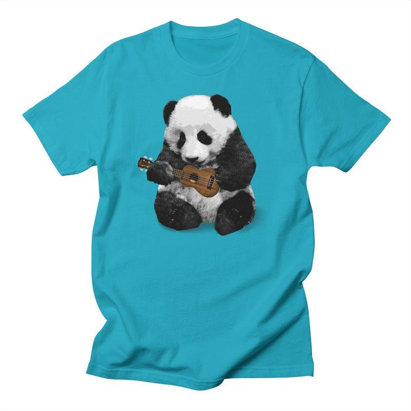Ukulele Panda Men's T-Shirt by Art of Ryan Winchell