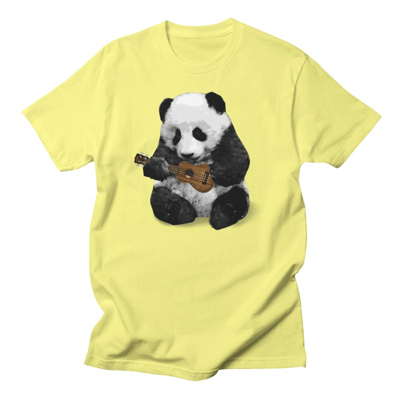 Ukulele Panda Men's T-Shirt by Art of Ryan Winchell