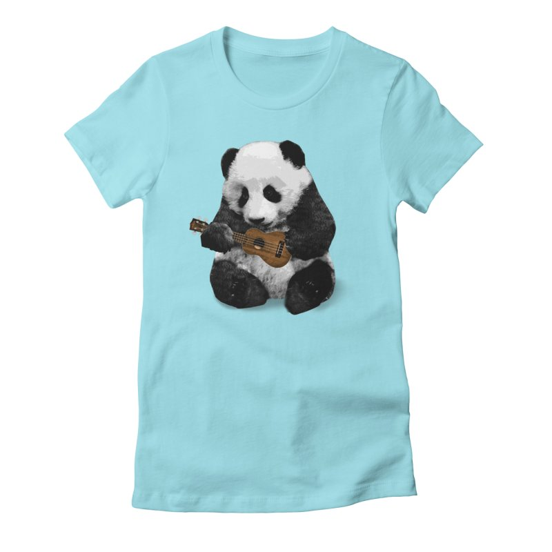 Ukulele Panda Women's T-Shirt by Art of Ryan Winchell
