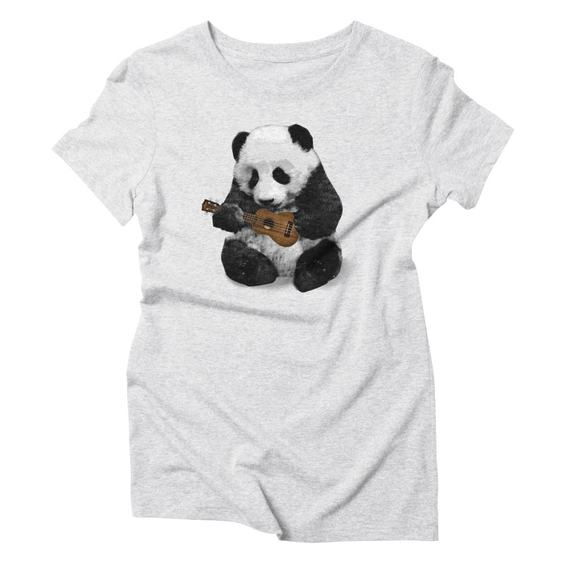 Ukulele Panda Women's T-Shirt by Art of Ryan Winchell