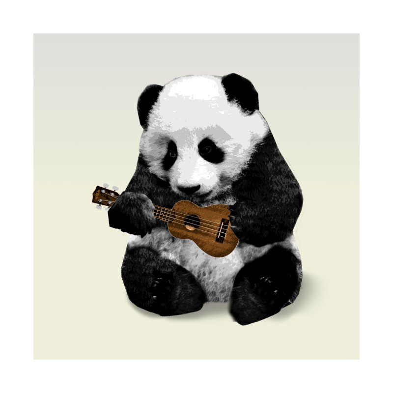 Ukulele Panda Home Stretched Canvas by Art of Ryan Winchell