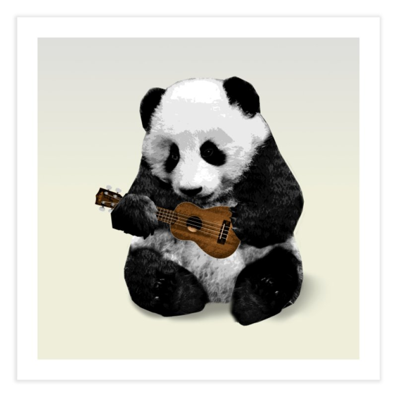 Ukulele Panda Home Fine Art Print by Art of Ryan Winchell