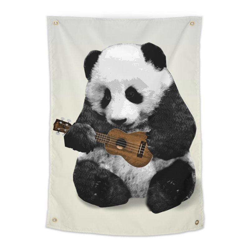 Ukulele Panda Home Tapestry by Art of Ryan Winchell