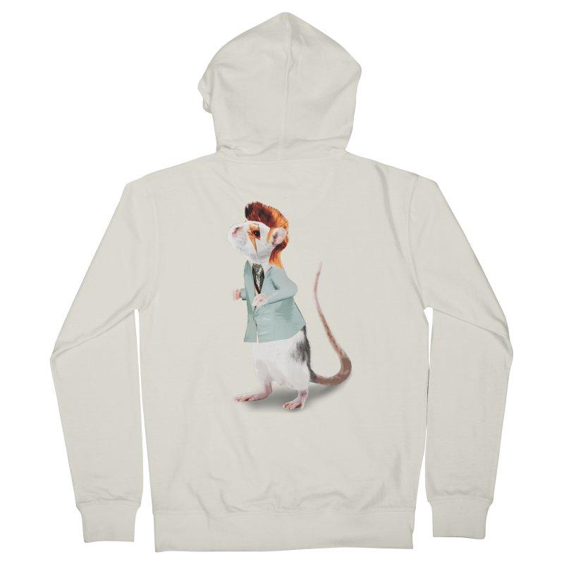 Bowie Rat Women's Zip-Up Hoody by Art of Ryan Winchell