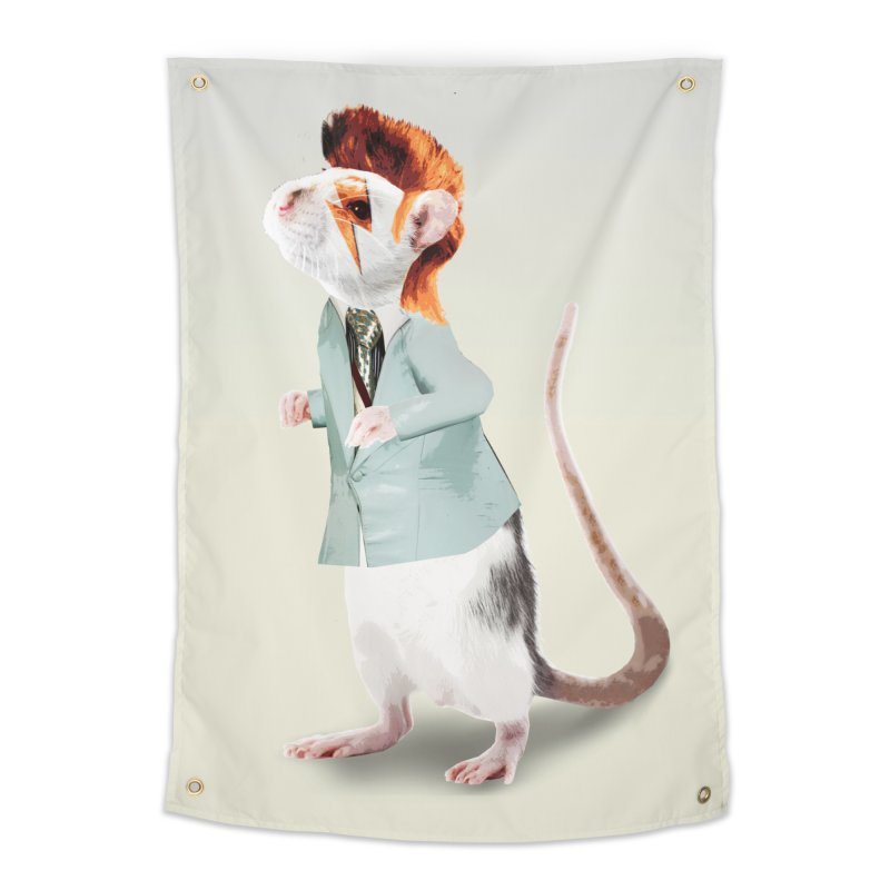 Bowie Rat Home Tapestry by Art of Ryan Winchell