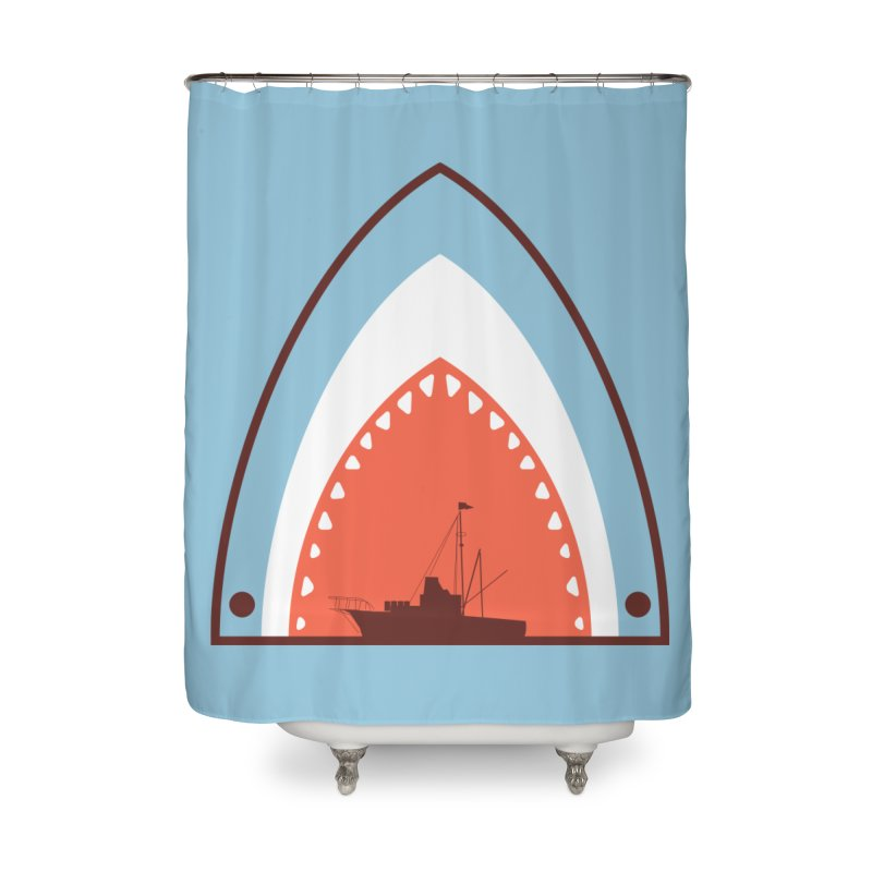 Great White Bite Home Shower Curtain by Ryder Doty Shop