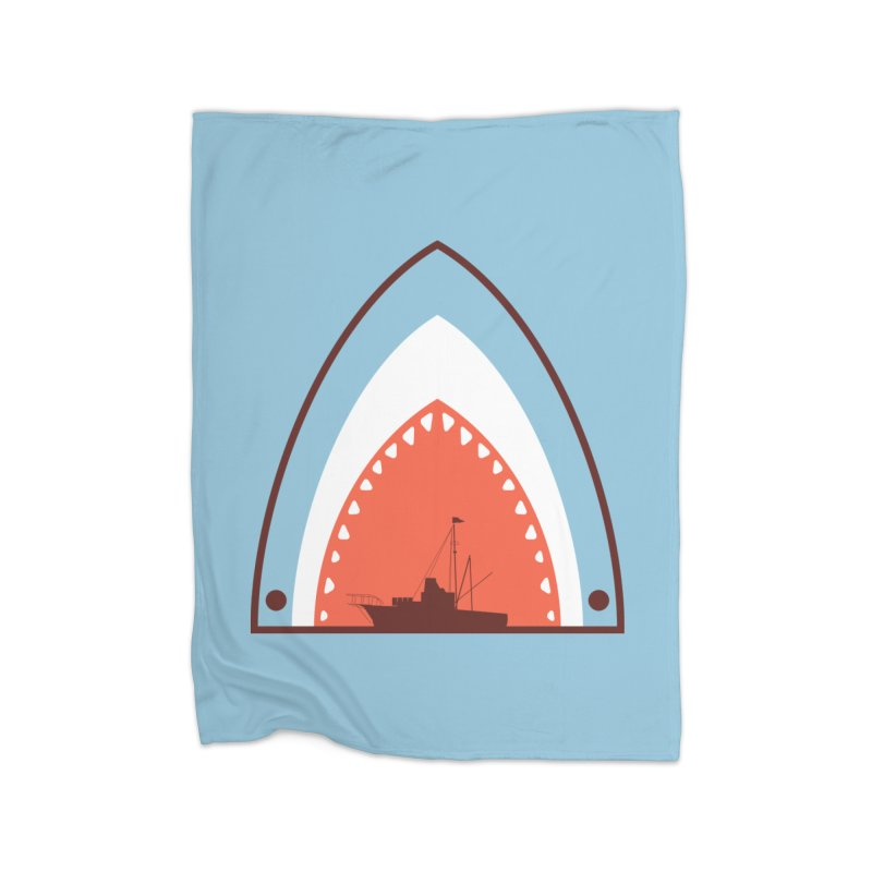 Great White Bite Home Blanket by Ryder Doty Shop