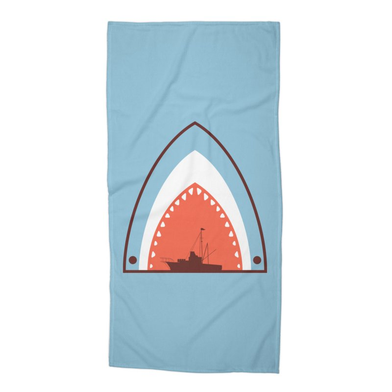 Great White Bite Accessories Beach Towel by Ryder Doty Shop