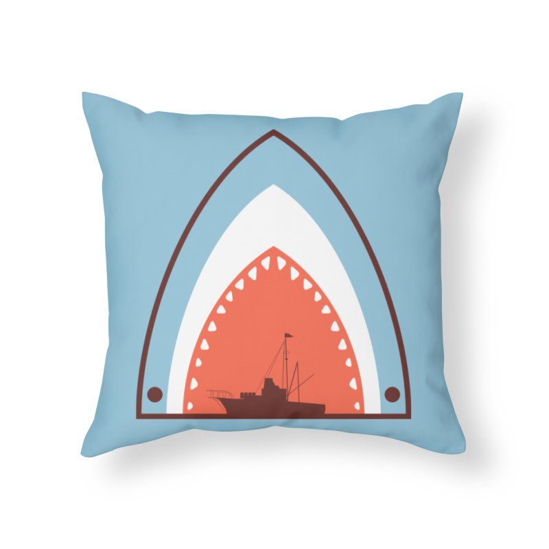 Great White Bite Home Throw Pillow by Ryder Doty Shop