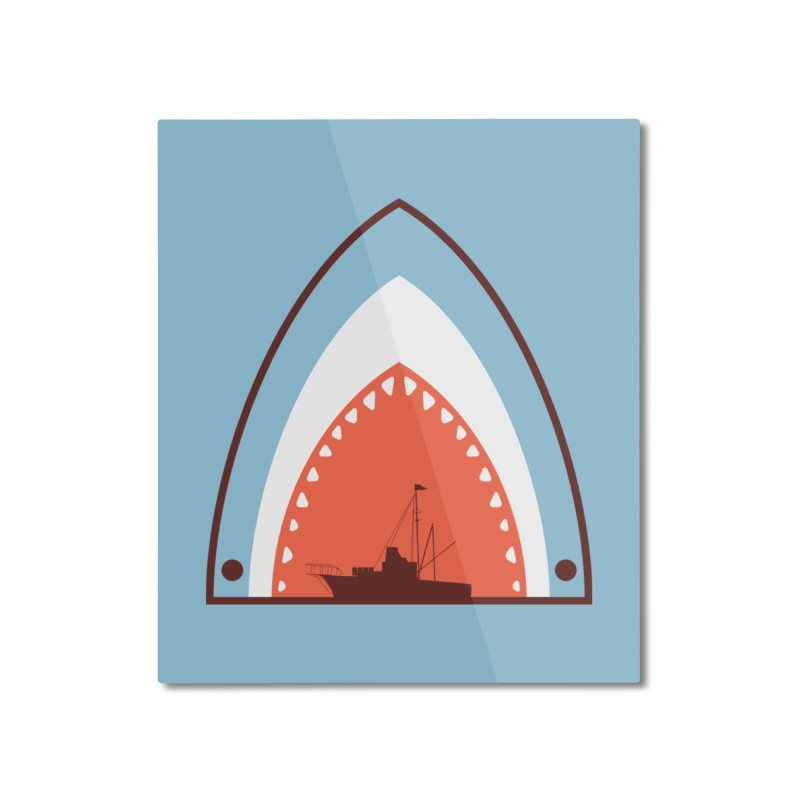 Great White Bite Home Mounted Aluminum Print by Ryder Doty Shop