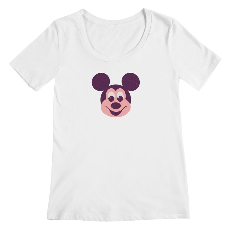 Mouse Women's Regular Scoop Neck by Ryder Doty Shop