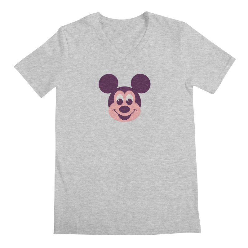 Mouse Men's Regular V-Neck by Ryder Doty Shop