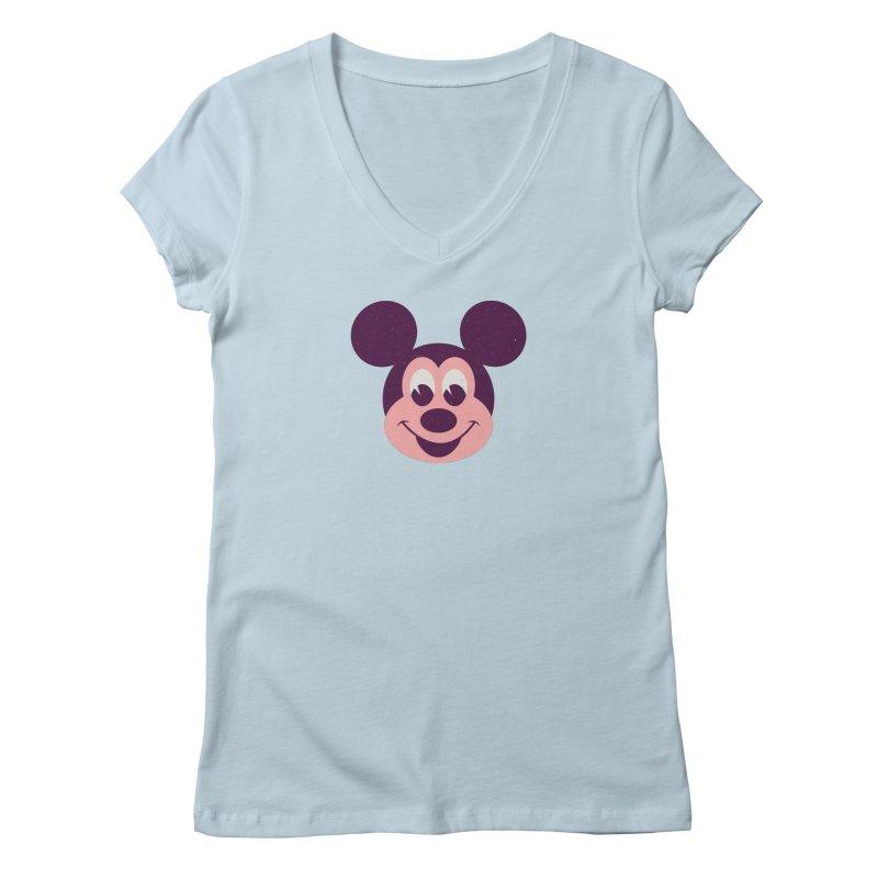 Mouse Women's V-Neck by Ryder Doty Shop