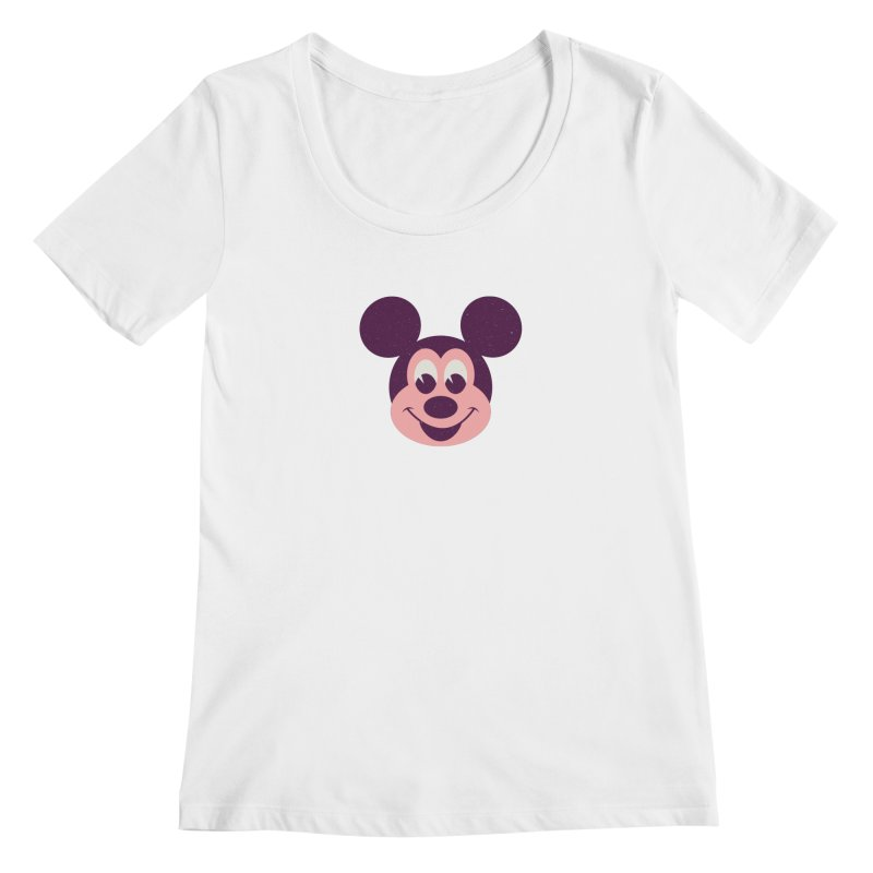 Mouse Women's Scoopneck by Ryder Doty Shop
