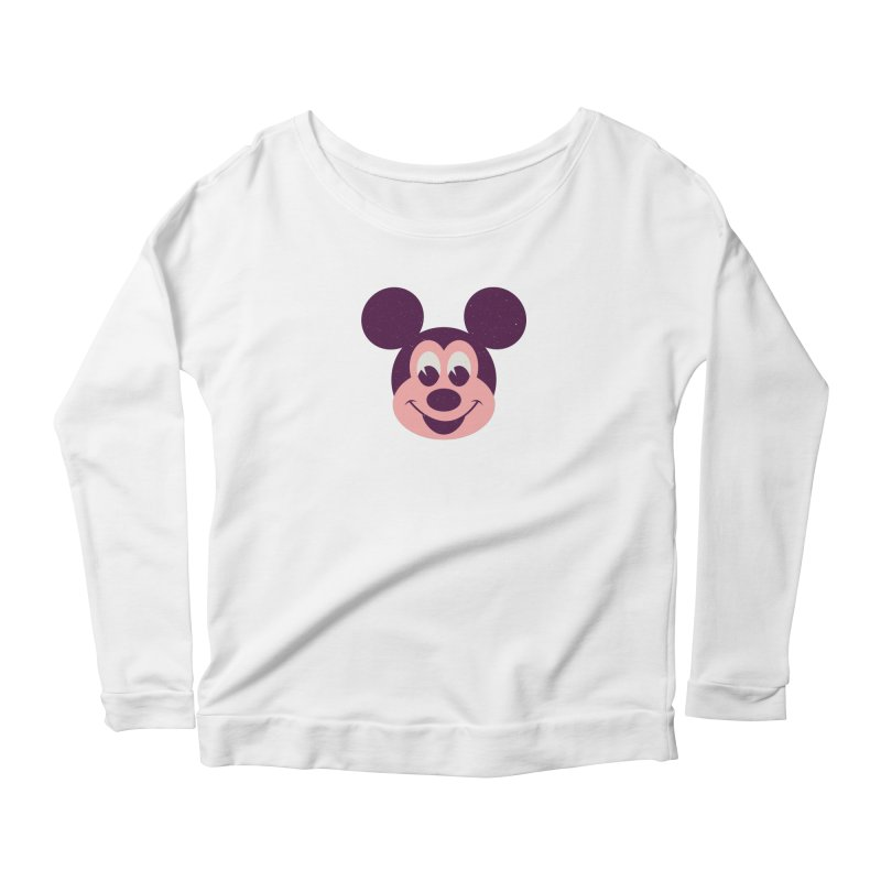 Mouse Women's Longsleeve Scoopneck  by Ryder Doty Shop