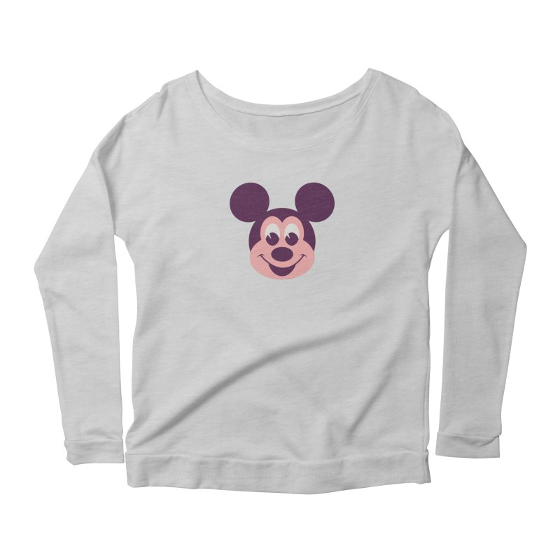 Mouse Women's Scoop Neck Longsleeve T-Shirt by Ryder Doty Shop