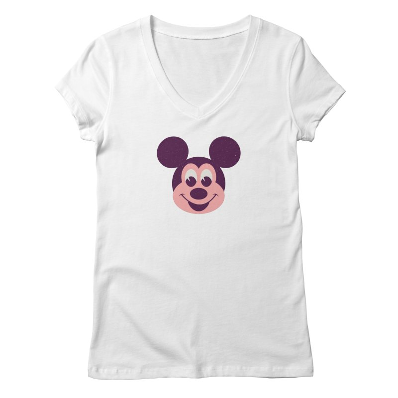 Mouse Women's Regular V-Neck by Ryder Doty Shop