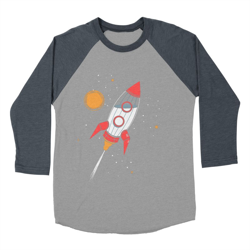 Bottle Rocket Men's Baseball Triblend Longsleeve T-Shirt by Ryder Doty Shop